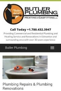 Butler Plumbing Mobile Site